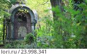 Купить «Склеп на могиле на старом кладбище», видеоролик № 23998341, снято 24 сентября 2016 г. (c) Швец Анастасия / Фотобанк Лори