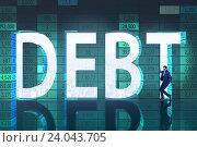 Купить «Businessman in debt business concept», фото № 24043705, снято 16 октября 2019 г. (c) Elnur / Фотобанк Лори