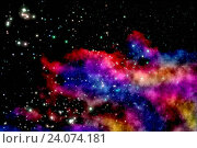 Купить «Blue and magenta nebula», фото № 24074181, снято 14 ноября 2018 г. (c) easy Fotostock / Фотобанк Лори
