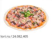 Пицца с ветчиной и грибами. Стоковое фото, фотограф Кривцов Алексей / Фотобанк Лори