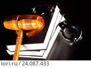 Купить «Law theme, mallet of judge, wooden gavel», фото № 24087433, снято 23 марта 2013 г. (c) easy Fotostock / Фотобанк Лори
