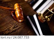 Купить «Wooden gavel barrister, justice concept, legal system», фото № 24087733, снято 14 октября 2013 г. (c) easy Fotostock / Фотобанк Лори