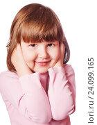 Купить «Girl covering ears», фото № 24099165, снято 11 декабря 2008 г. (c) Ольга Сапегина / Фотобанк Лори