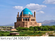 Купить «Iran, Zanjan province, Soltaniyeh, Oljeitu mausoleum, the Mongolian sultan of Ilkhanid Mongol era, Unesco World Heritage», фото № 24100577, снято 16 мая 2016 г. (c) age Fotostock / Фотобанк Лори