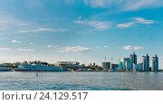 Купить «Россия, Алтайский край; город Барнаул; Речной вокзал Барнаула – порт», эксклюзивное фото № 24129517, снято 12 июня 2016 г. (c) Александр Циликин / Фотобанк Лори