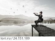 Купить «Searching for new perspectives . Mixed media», фото № 24151189, снято 24 марта 2014 г. (c) Sergey Nivens / Фотобанк Лори