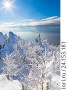 Купить «На вершине Двуглавой сопки. Зимний пейзаж.», фото № 24153181, снято 5 ноября 2016 г. (c) Александр Цуркан / Фотобанк Лори