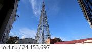 Купить «Шаболовская телевизионная башня, Москва», фото № 24153697, снято 25 октября 2016 г. (c) Владимир Журавлев / Фотобанк Лори