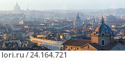 Rome city top panorama, Italy. Стоковое фото, фотограф Юрий Брыкайло / Фотобанк Лори
