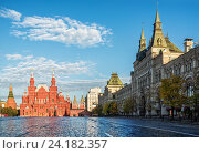 Купить «ГУМ на Красной площади», фото № 24182357, снято 1 октября 2016 г. (c) Baturina Yuliya / Фотобанк Лори