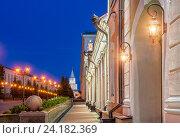 Купить «Фонари в Казанском Кремле», фото № 24182369, снято 21 июля 2015 г. (c) Baturina Yuliya / Фотобанк Лори