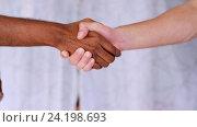Купить «people of different races handshake», видеоролик № 24198693, снято 6 ноября 2016 г. (c) Syda Productions / Фотобанк Лори