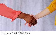 Купить «people of different races handshake», видеоролик № 24198697, снято 6 ноября 2016 г. (c) Syda Productions / Фотобанк Лори