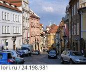 Купить «Улочка в Праге», фото № 24198981, снято 2 мая 2016 г. (c) Наталия Журавлёва / Фотобанк Лори
