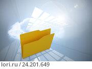 Купить «Composite image of empty yellow folder», фото № 24201649, снято 18 июня 2018 г. (c) Wavebreak Media / Фотобанк Лори