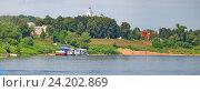 Купить «Панорама реки Оки, недалеко от города Таруса, Россия», фото № 24202869, снято 13 июня 2012 г. (c) Great Siberia Studio / Фотобанк Лори