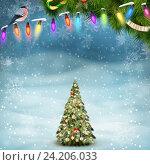 Купить «Красивая рождественская ель», иллюстрация № 24206033 (c) Владимир / Фотобанк Лори