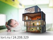 Купить «Design of your dream house . Mixed media», фото № 24208329, снято 30 октября 2013 г. (c) Sergey Nivens / Фотобанк Лори
