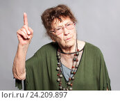 Купить «Стильная бабушка 90 лет», фото № 24209897, снято 20 сентября 2016 г. (c) Гладских Татьяна / Фотобанк Лори