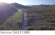 Купить «Вид с воздуха на шоссе в Боснии», видеоролик № 24217089, снято 1 мая 2016 г. (c) Иван Кузнецов / Фотобанк Лори