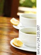 Две чашки с супом. Стоковое фото, фотограф Allika / Фотобанк Лори