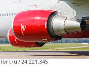 Двигатель пассажирского самолета. Стоковое фото, фотограф Mikhail Starodubov / Фотобанк Лори