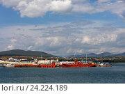 Корабли возле пирса. Стоковое фото, фотограф Елена Олешко / Фотобанк Лори