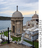 Купить «Luarca Cemetery by the sea, in Asturias, Spain.», фото № 24229513, снято 10 мая 2016 г. (c) Юрий Брыкайло / Фотобанк Лори