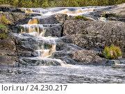 Купить «Водопады Ахвенкоски», фото № 24230217, снято 4 октября 2016 г. (c) Димка Григорьев / Фотобанк Лори