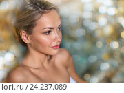 Купить «close up of woman in swimsuit at swimming pool», фото № 24237089, снято 15 декабря 2014 г. (c) Syda Productions / Фотобанк Лори