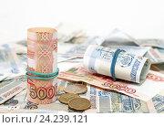 Купить «Российские деньги», фото № 24239121, снято 11 ноября 2016 г. (c) Наталья Осипова / Фотобанк Лори