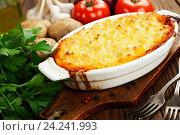 Купить «Картофельный пирог с мясной начинкой», фото № 24241993, снято 18 ноября 2016 г. (c) Надежда Мишкова / Фотобанк Лори