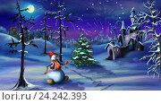 Купить «Рождественская фантазия с волшебным единорогом», видеоролик № 24242393, снято 19 ноября 2016 г. (c) Sergii Zarev / Фотобанк Лори