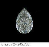 Купить «Драгоценный камень в форме капли на черном фоне», иллюстрация № 24245733 (c) Арсений Герасименко / Фотобанк Лори