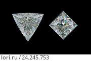 Купить «Драгоценный камень или алмаз на черном фоне. Вид сверху», иллюстрация № 24245753 (c) Арсений Герасименко / Фотобанк Лори