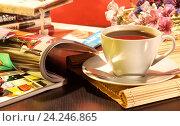 Купить «Кофейная композиция», фото № 24246865, снято 25 октября 2014 г. (c) Виктор Топорков / Фотобанк Лори