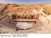 Южный театр в античном городе Герасе, Ждеоаш, Иордания (2016 год). Стоковое фото, фотограф Наталья Волкова / Фотобанк Лори