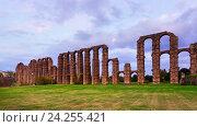 antique Roman Aqueduct of Merida (2014 год). Стоковое фото, фотограф Яков Филимонов / Фотобанк Лори