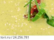 Холодные огуречный суп с семенами кунжута. Стоковое фото, фотограф Воронина Светлана / Фотобанк Лори