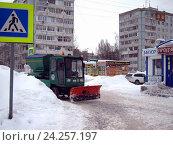 Купить «Снегоуборочная техника», фото № 24257197, снято 30 января 2016 г. (c) Светлана Кириллова / Фотобанк Лори