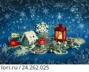 Купить «Christmas decorations», фото № 24262025, снято 15 января 2014 г. (c) ElenArt / Фотобанк Лори