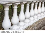 Белые балясины, фото № 24266913, снято 3 октября 2016 г. (c) Галина Тимонько / Фотобанк Лори