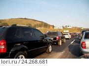 Купить «President Castelo Branco highway, SP-280, BR-374, 2016, São Paulo, Brazil.», фото № 24268681, снято 7 августа 2016 г. (c) age Fotostock / Фотобанк Лори