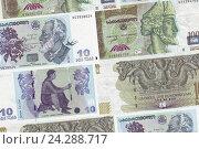 Купить «Банконты Республики Грузии, фон», фото № 24288717, снято 24 ноября 2017 г. (c) Евгений Ткачёв / Фотобанк Лори