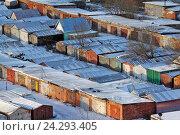 Купить «Типовой гаражный кооператив в России», эксклюзивное фото № 24293405, снято 29 ноября 2016 г. (c) Александр Тарасенков / Фотобанк Лори