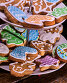 Close up of Christmas cookies on Tiered Cookie Stand., фото № 24305969, снято 30 ноября 2016 г. (c) Gennadiy Poznyakov / Фотобанк Лори