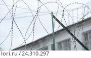 Типичный тюремный пейзаж. Исправительная система Россия УФСИН. Колония особо -строгого режима. Стоковое видео, видеограф Mikhail Erguine / Фотобанк Лори