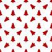 Шаблон для оберточной бумаги. Красные рождественские елки на белом фоне, иллюстрация № 24316553 (c) Elena Titova / Фотобанк Лори