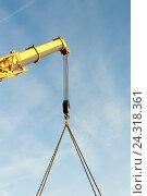 Купить «Телескопическая стрела крана», фото № 24318361, снято 1 июня 2009 г. (c) Андрей Радченко / Фотобанк Лори