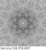 Мандала в черно-серых тонах. Стоковое фото, фотограф Екатерина Кулаева / Фотобанк Лори